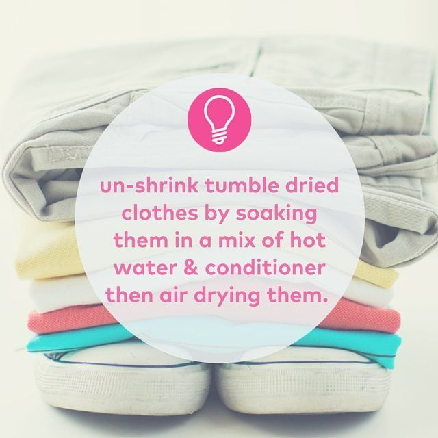Never have a problem with #shrinkage again #laundrytips #lifehacks #instapic #instatip #hints #tricks #likeaboss