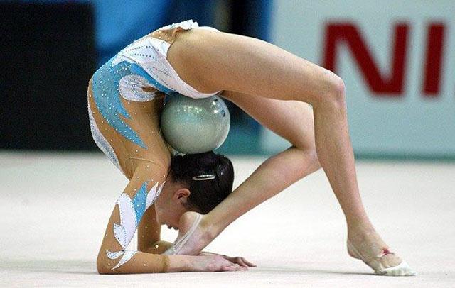 Rhythmic gymnastics--it's amazing what they can do!