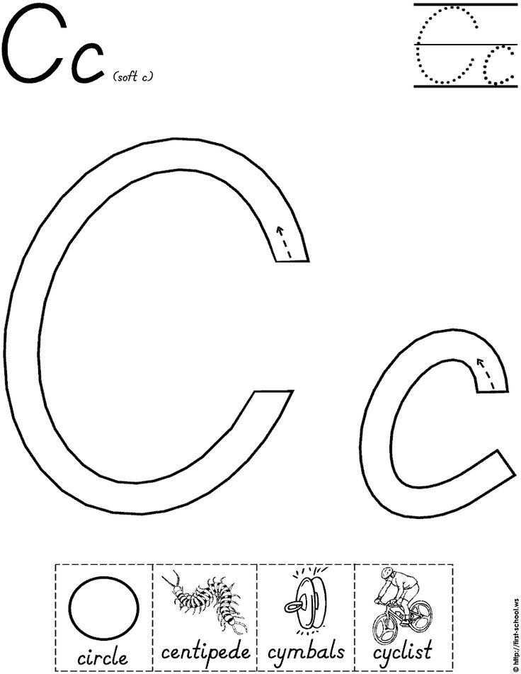 Letter C worksheet for handwriting intervention Alphabet