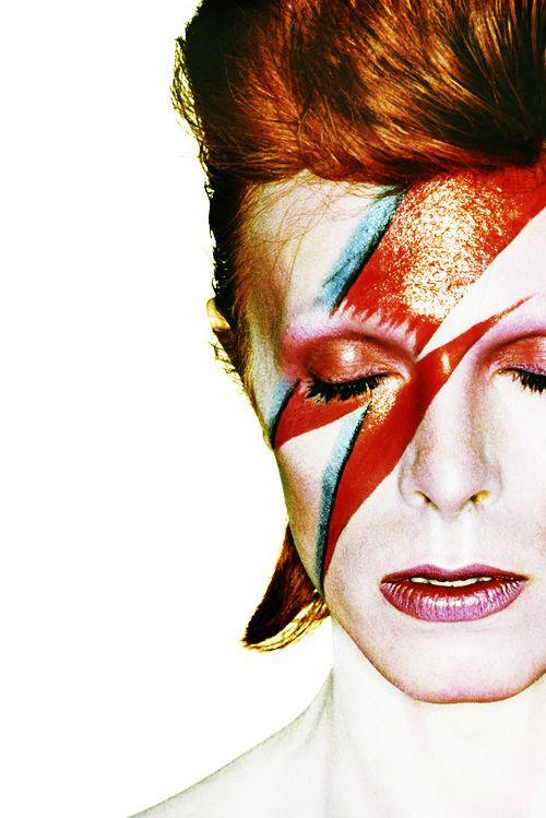 """David Bowie by Brian Duffy for """"Aladdin Sane"""" 1973."""