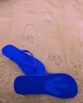 T Rex Footprint  Custom Sand Imprint Flip Flop