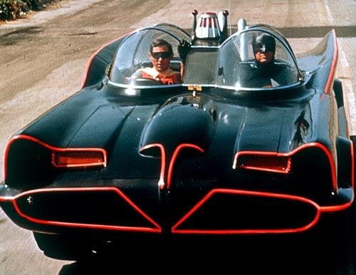 Holy hot rod!! It's the original batmobile! Created by George Barris from a 1955 Ford Futura