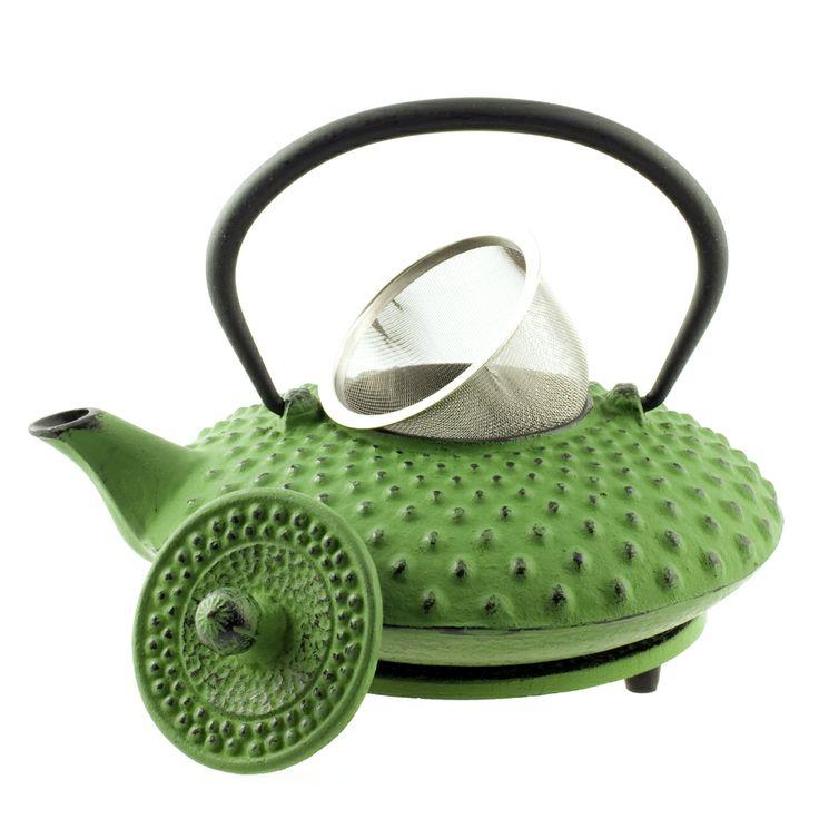 Ceainic Tetsubin Shimizu verde - din fonta