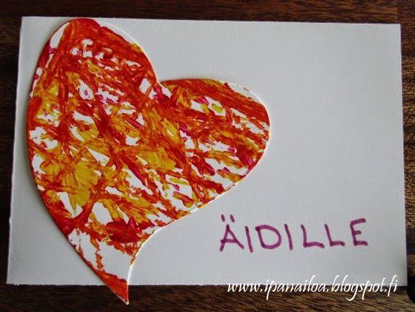 askartelua: äitienpäivä, kortti crafts: Mother's Day, card hantverk: mors dag, kort  http://ipanaaskartelua.blogspot.fi/2015/05/aitienpaivakortti.html
