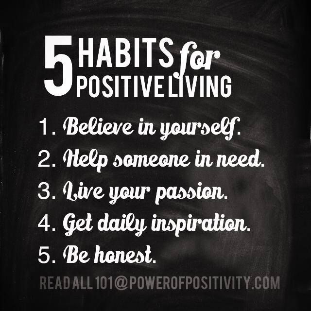 5 Habits for Positive Living....... Citaten