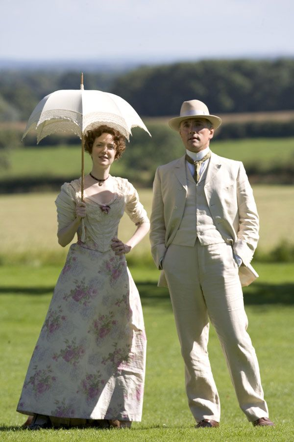 Lady Adelaide and Sir Timothy Midwinter - Olivia Grant and Ben Miles in Lark Rise to Candleford, towards the end of the 19th century (TV series 2008-2011).