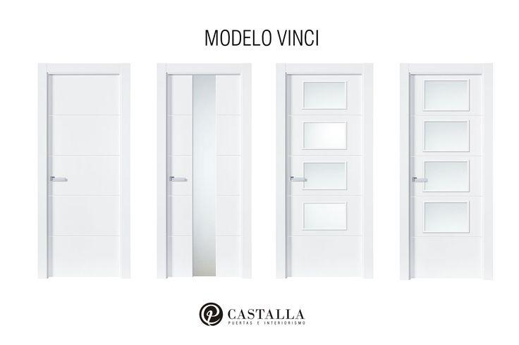 Puertas con cristal | Modelo Vinci | Serie Lacada | Puertas de interior | Puertas Castalla