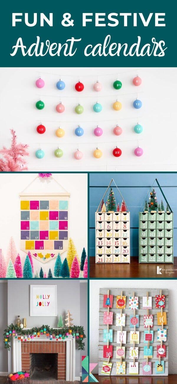 Fun And Festive Diy Advent Calendar Ideas Kaleidoscope Living Advent Calendars For Kids Diy Advent Calendar Cool Advent Calendars