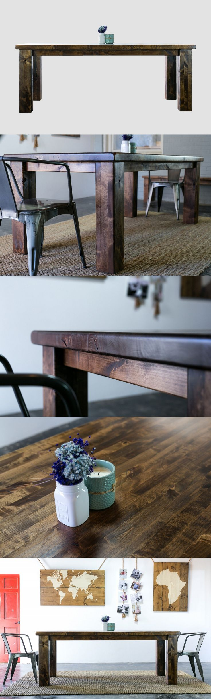 Named after the famous breed of draught horse found in Scotland, our table is also beautifully oversized and built for strength. A full 2-1/4″ butcher block top sits above 5-1/2″ solid wood legs. Please note: this table is not easy to move.