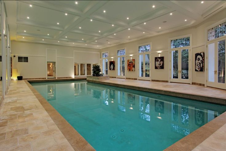 15 000 Square Foot Stone Mansion In Toronto With Indoor Pool Homes Indoor Swimming Pools