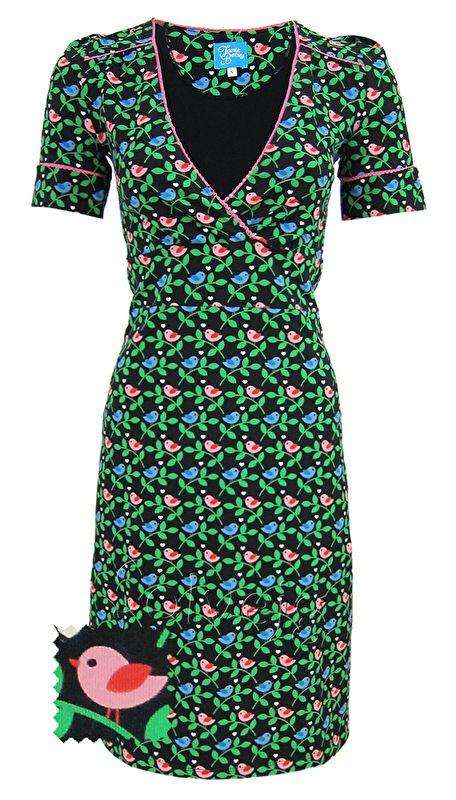 Birdie black jurk Tante Betsy, buy it at Solvejg.nl