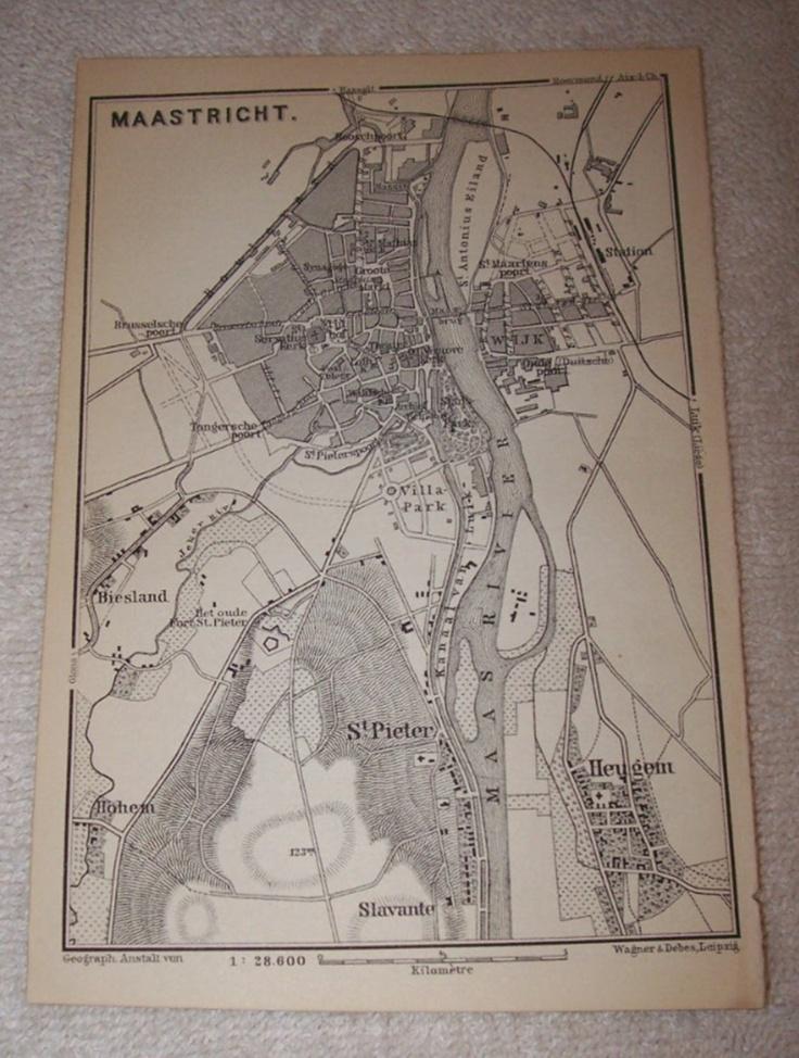 1897 Map Of Maastricht 20 best Maastricht