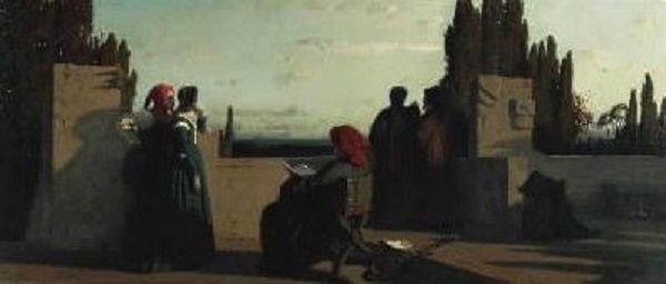 Vincenzo Cabianca - Scena medioevale