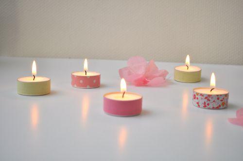 bougies chauffe plat masking tape