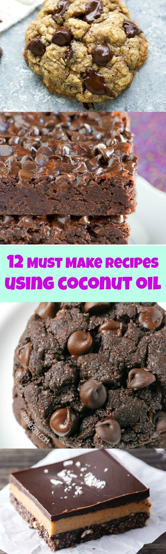 Baking with Coconut Oil - 12 Must Make Recipes! These are amazing! The brownies are killer!!                                                                                                                                                                                 More