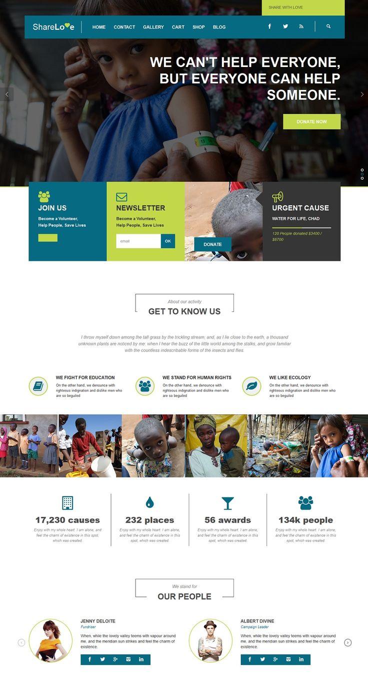 Best Nonprofit Websites Images On Pinterest Website Designs - Non profit websites templates