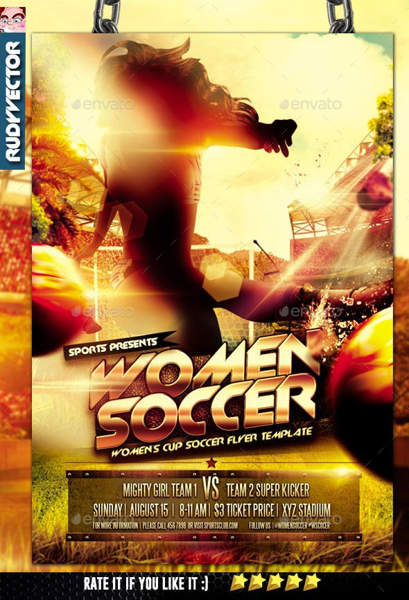 Women Soccer Cup Flyer Template. Best as your women soccer tournament, women soccer competition flyer, women soccer cup flyer, sports cup, sports competition, women football flyer, etc.  File Details :  Fonts are editable  Layered PSD  CMYK 300 dpi print re