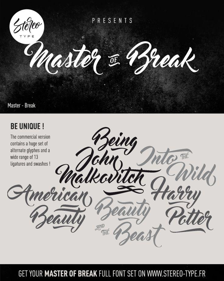 Master Of Break Font | dafont.com #free #fonts