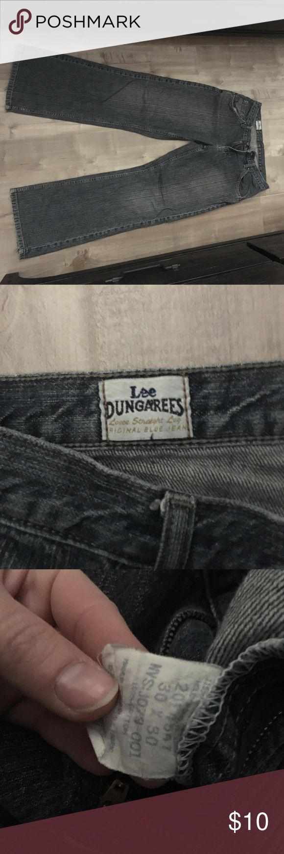 Lee Dungarees jeans Bottom of jeans worn.. see images. Still great jeans with lots of life. Size 30x30 Jeans