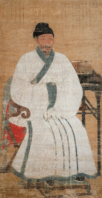 Portrait of Yi Je-hyeon (1287-1367), a Goryeo period scholar, National Museum of Korea.