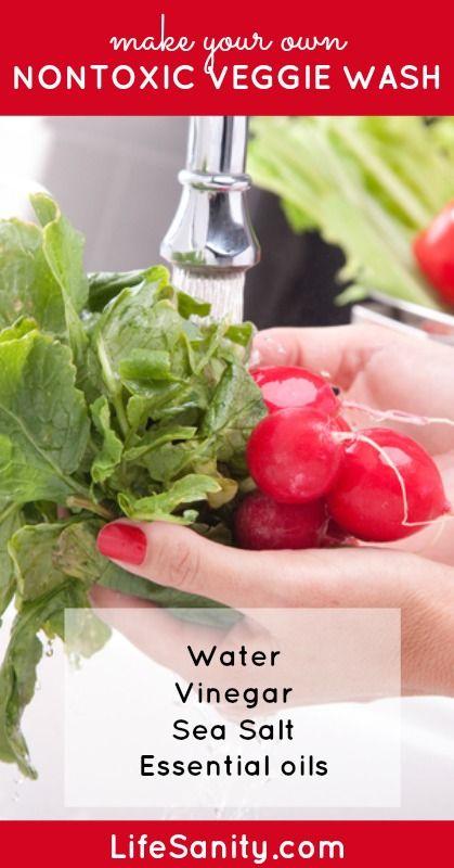 Make Your Own Nontoxic Veggie Wash | Life Sanity