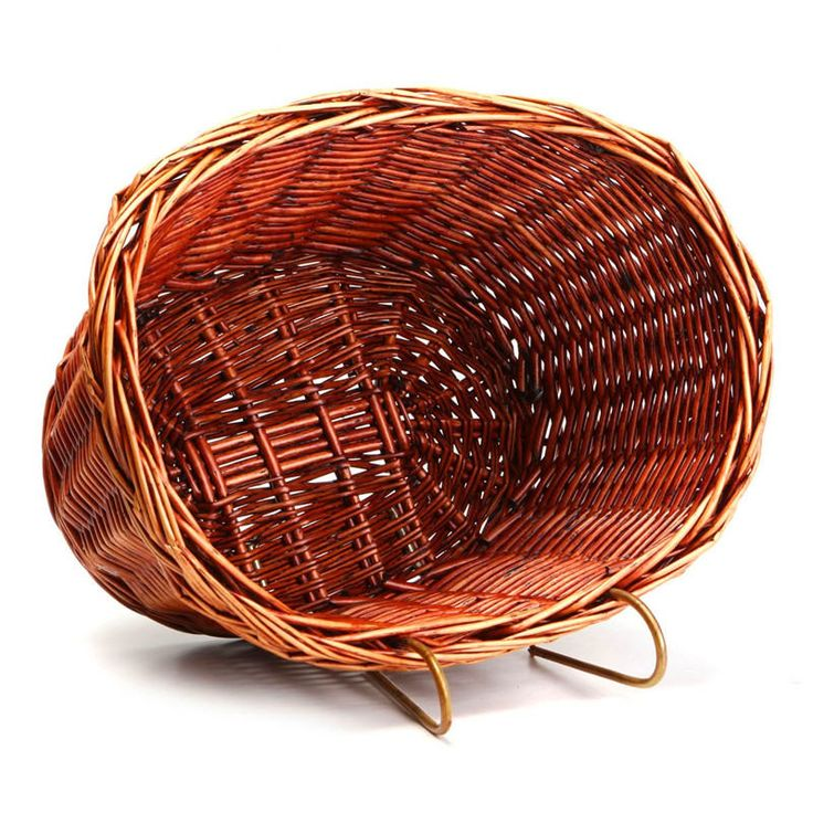 Outdoor Classic Style Rustic Basket Willow Straps Bike Cycling Bicycle natural, Classic durable strong Wicker Manual Basket