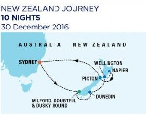 10 Nights New Zealand - 30 December 2016 - Ovation of the4 Seas - RC