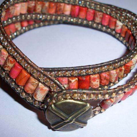 very pretty pretty: Triple Row Leather Bracelet   JewelryLessons.com