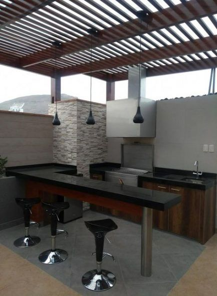 New Backyard Deck With Roof Outdoor Kitchens Ideas Backyard