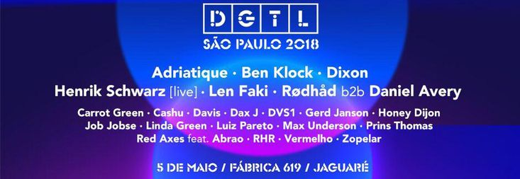 Amsterdam-based promoter DGTL has announced the lineup for another São Paulo event, happening Saturday, May 5th.