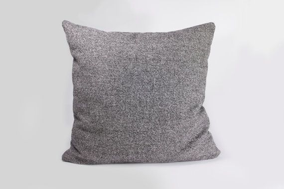 16 by 16 Classic gray pillow Sebastian by detcraft on Etsy