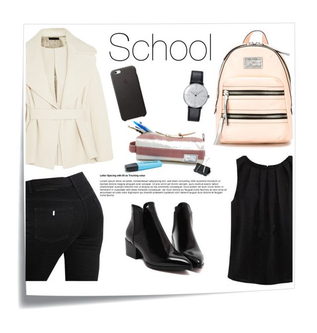 School by betti-nyilas on Polyvore featuring polyvore, fashion, style, The Row, STELLA McCARTNEY, Marc by Marc Jacobs, Klein & more, Herschel Supply Co., Post-It, women's clothing, women's fashion, women, female, woman, misses and juniors