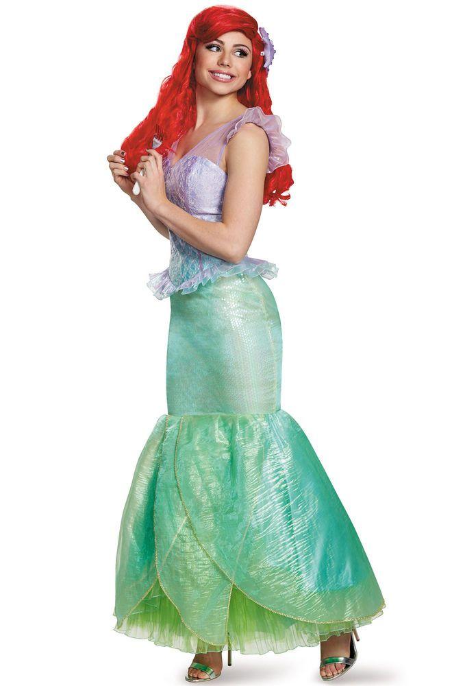 Brand New Disney Princess Little Mermaid Ariel Ultra Prestige Adult Costume #DisneyPrincessDisguise #Dress