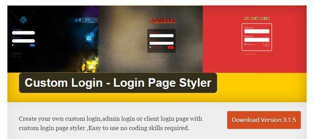 Image result for Custom Login (Login Page Styler)