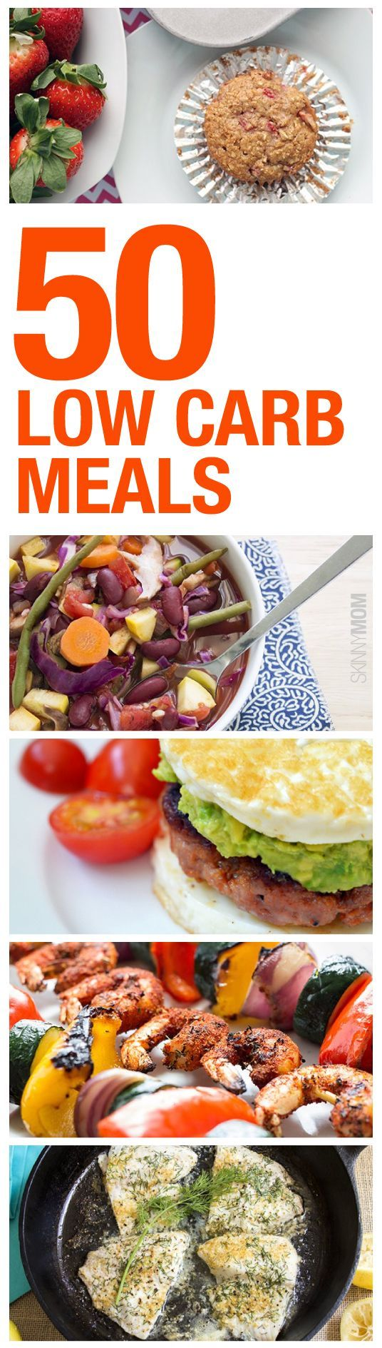 Watching your carb intake? Check out these 50 low carb breakfasts lunches dinners and snack options that will keep your body in shape and your tastebuds happy!