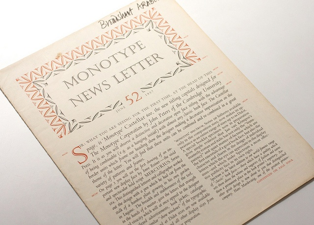 Monotype Newsletter No52