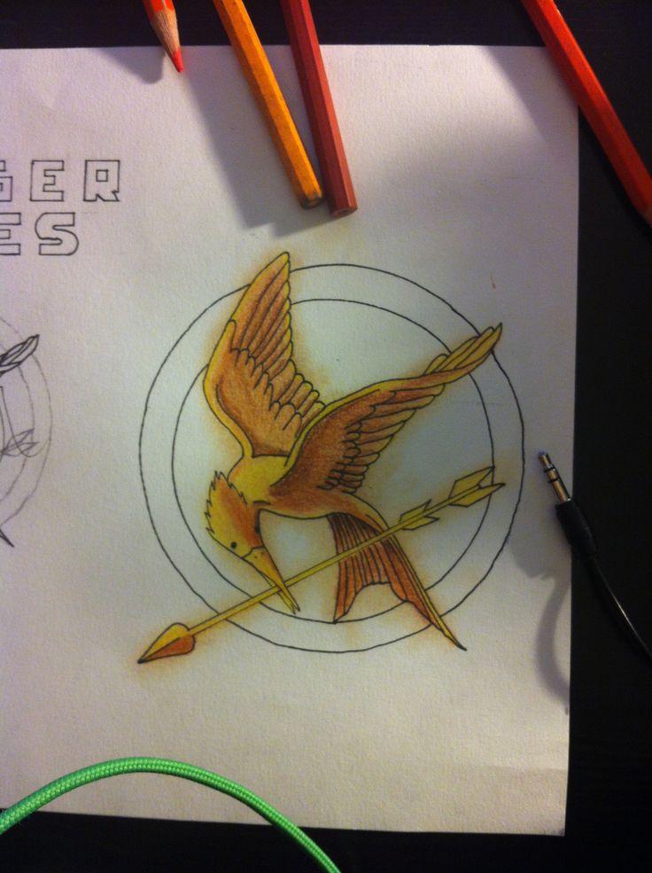 Mon dessin Hg du geai moqueur