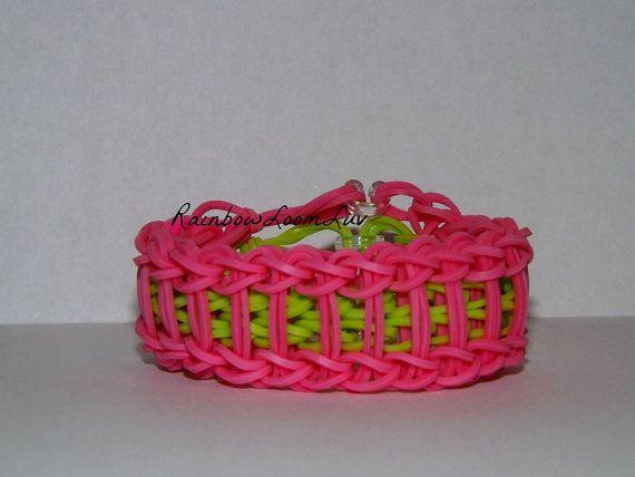 Ladder Rainbow Loom Bracelet Pink