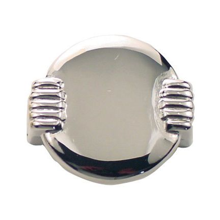 Round Deco Pull, Polished Nickel