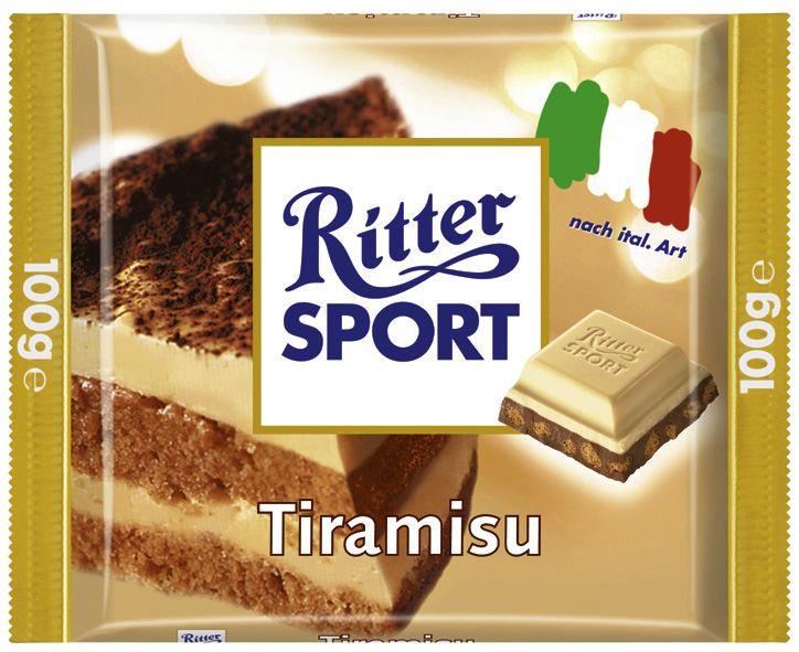 Die RITTER SPORT Tiramisu (2004) war eine der vier Editionen der Länderpromo für Italien.