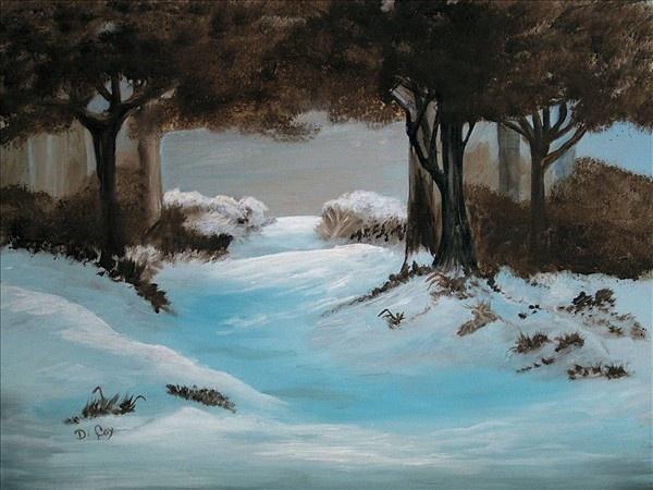 "Original Oil Painting - ""Winter Woodland"""