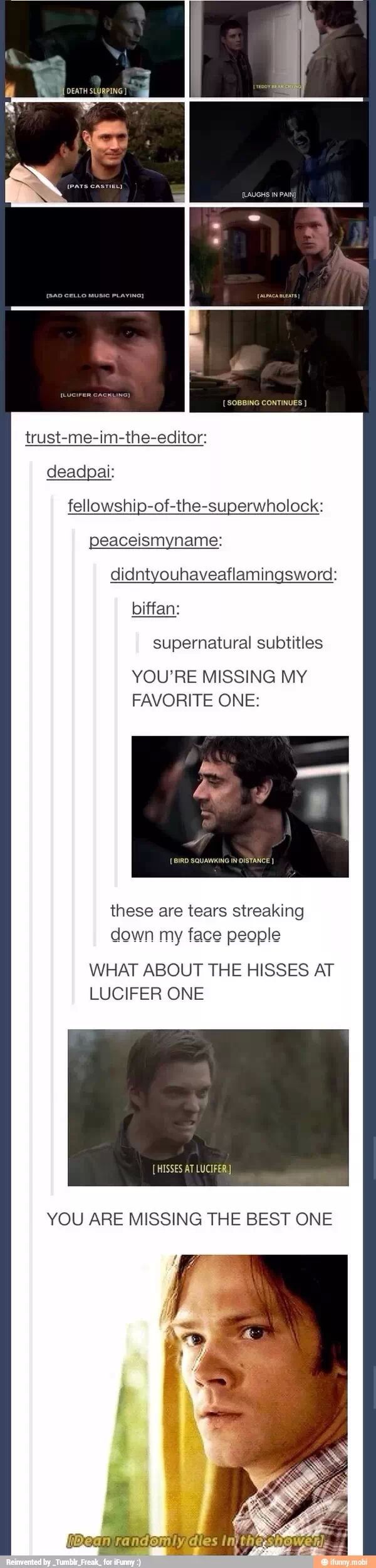 """Supernatural subtitles!!! 