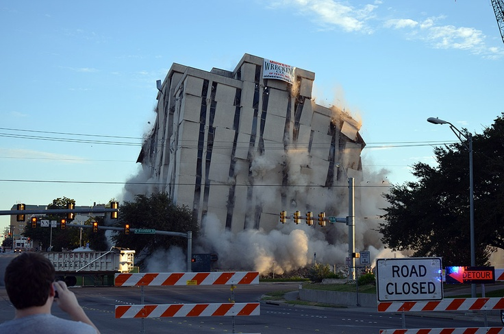 Fort worth building implosion skyscraperpage forum