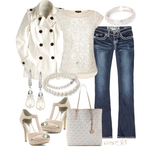 Sparkle and Pearls...oh yeah!: Jeans Jackets, Dresses Up, White Coats, Holidays Outfit, Saia Mini-Sequins, Black Shoes, So Pretty, Super Cute, Glitter Pearls