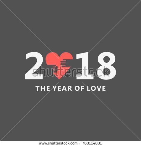 2018 banner with love, the year of love