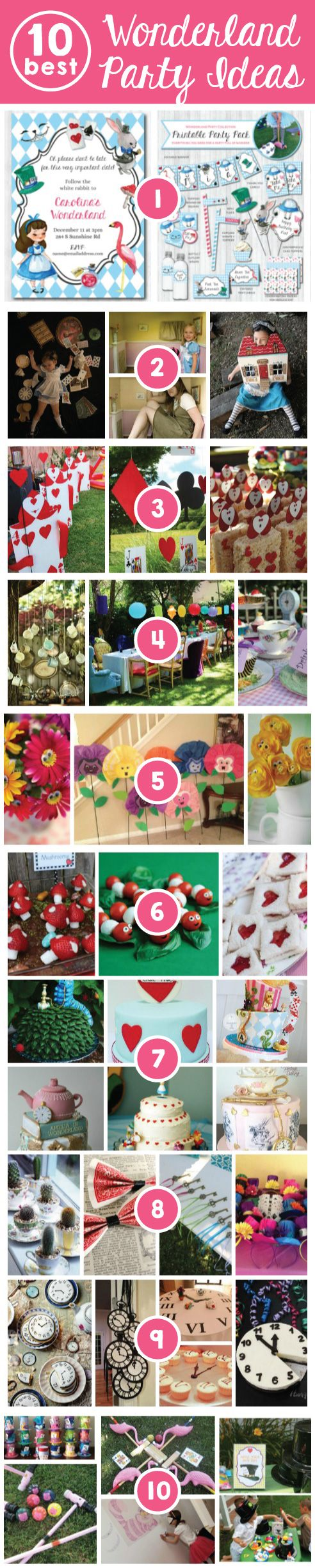 Alice in Wonderland Party ideas - Top 10 - original fun food decor favors games fun whimsical