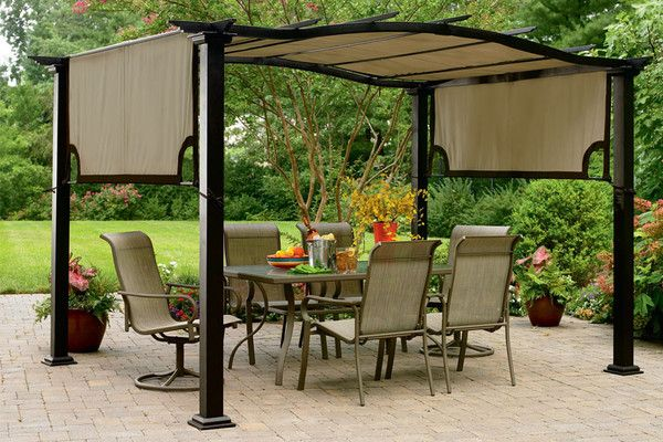 Essential Garden Curved Pergola S-PG11D1NK Canopy - The Outdoor Patio Store