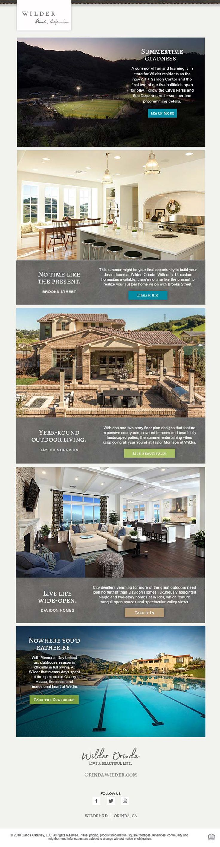 New Homes For Sale In Orinda, California Summertime Gladness In