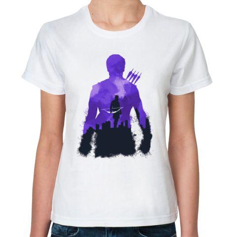Классическая футболка Силуэты-Клинт Бартон,Clint Barton - купить в интернет-магазине Printdirect.ru