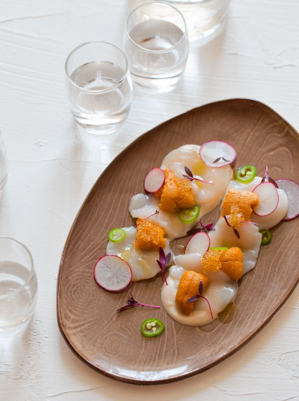 uni-scallop-crudo / Spoon Fork Bacon